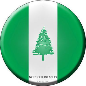 Norfolk Islands Novelty Metal Circular Sign