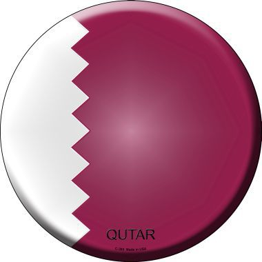 Qutar Country Novelty Metal Circular Sign