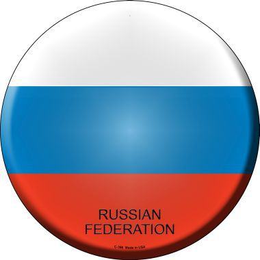 Russian Federation Country Novelty Metal Circular Sign C-396