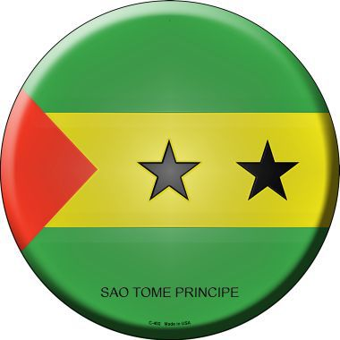 Sao Tome Principe Country Novelty Metal Circular Sign