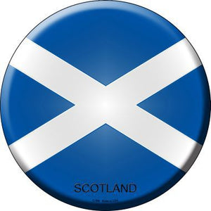 Scotland Country Novelty Metal Circular Sign