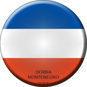Serbia Montenegro Country Novelty Metal Circular Sign