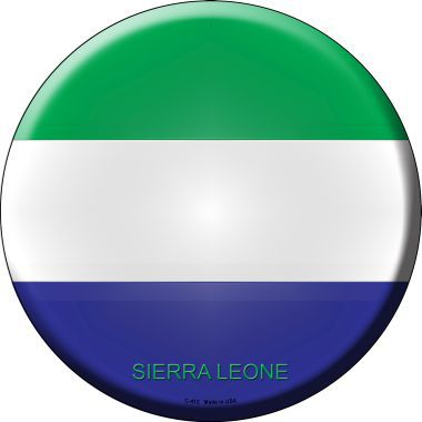 Sierra Leone Country Novelty Metal Circular Sign