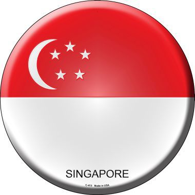 Singapore Country Novelty Metal Circular Sign