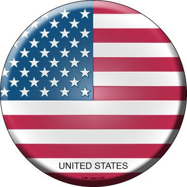 United States Country Novelty Metal Circular