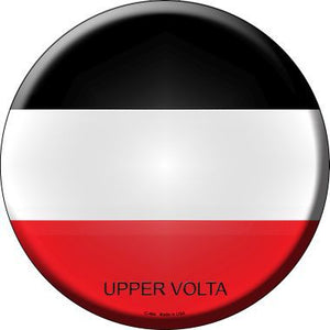 Upper Volta Country Novelty Metal Circular Sign