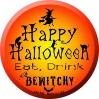Happy Halloween Novelty Metal Mini Circle Magnet
