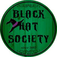 Black Hat Society Novelty Metal Mini Circle Magnet