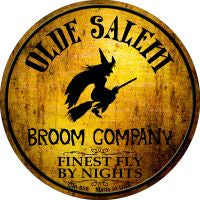 Salem Broom Company Novelty Metal Mini Circle Magnet