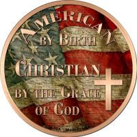 American Christian Novelty Metal Mini Circle Magnet