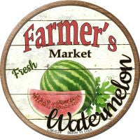 Farmers Market Watermelon Novelty Metal Mini Circle Magnet