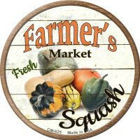 Farmers Market Squash Novelty Metal Mini Circle Magnet