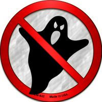 No Ghosts Novelty Metal Mini Circle Magnet