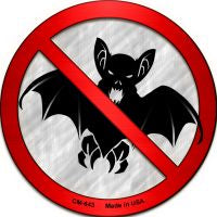 No Bats Novelty Metal Mini Circle Magnet