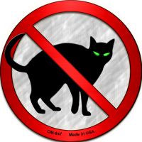 No Cats Novelty Metal Mini Circle Magnet