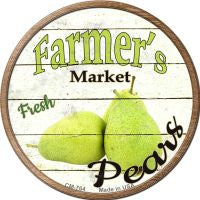 Farmers Market Pears Novelty Metal Mini Circle Magnet
