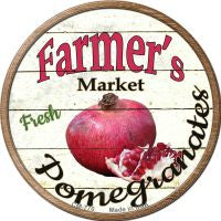 Farmers Market Pomegranates Novelty Metal Mini Circle Magnet