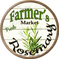 Farmers Market Rosemary Novelty Metal Mini Circle Magnet