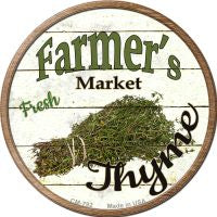 Farmers Market Thyme Novelty Metal Mini Circle Magnet