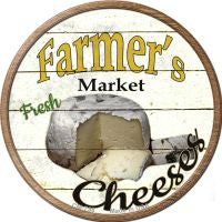 Farmers Market Cheeses Novelty Metal Mini Circle Magnet