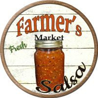 Farmers Market Salsa Novelty Metal Mini Circle Magnet