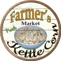 Farmers Market Kettle Corn Novelty Metal Mini Circle Magnet
