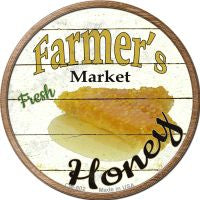 Farmers Market Honey Novelty Metal Mini Circle Magnet
