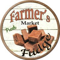 Farmers Market Fudge Novelty Metal Mini Circle Magnet