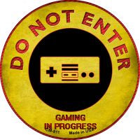 Do Not Enter NES Gaming In Progress Novelty Metal Mini Circle Magnet