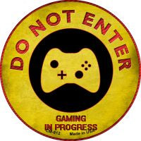 Do Not Enter Xbox Gaming In Progress Novelty Metal Mini Circle Magnet