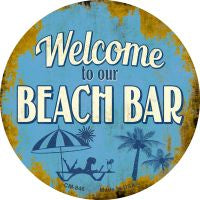 Welcome to our Beach Bar Novelty Metal Mini Circle Magnet