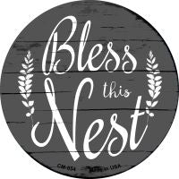 Bless the Nest Novelty Metal Mini Circle Magnet