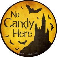 No Candy Here Novelty Metal Mini Circle Magnet