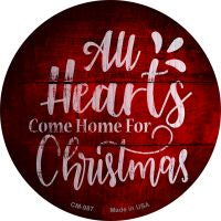 Come Home For Christmas Novelty Metal Mini Circle Magnet