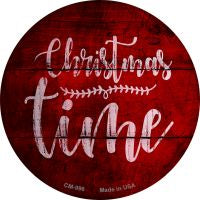 Christmas Time Novelty Metal Mini Circle Magnet