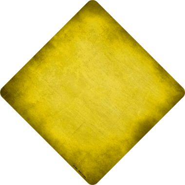 Yellow Oil Rubbed Novelty Metal Crossing Sign CX-006
