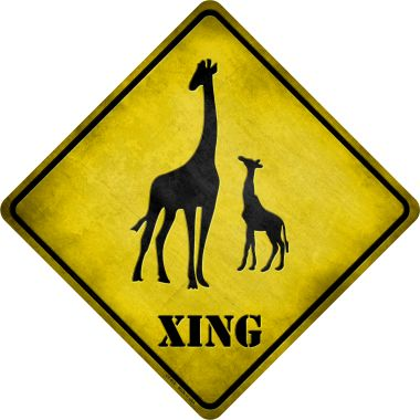 Giraffe Xing Novelty Metal Crossing Sign CX-019