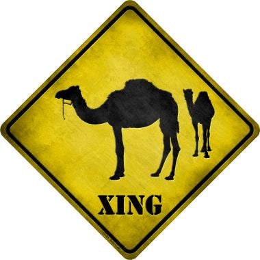 Camel Xing Novelty Metal Crossing Sign CX-024
