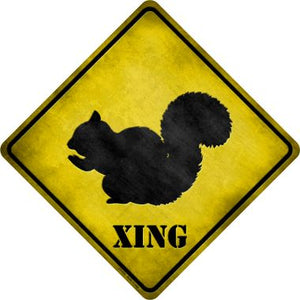 Squirrel Xing Novelty Metal Crossing Sign CX-025