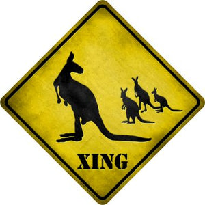 Kangaroo Xing Novelty Metal Crossing Sign CX-026