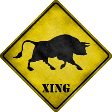 Bull Xing Novelty Metal Crossing Sign CX-028