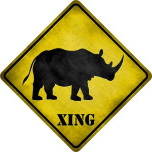 Rhino Xing Novelty Metal Crossing Sign CX-031
