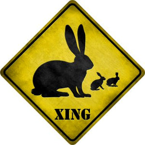 Rabbit Xing Novelty Metal Crossing Sign CX-032