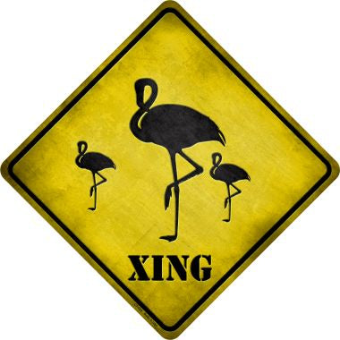 Flamingos Xing Novelty Metal Crossing Sign CX-034