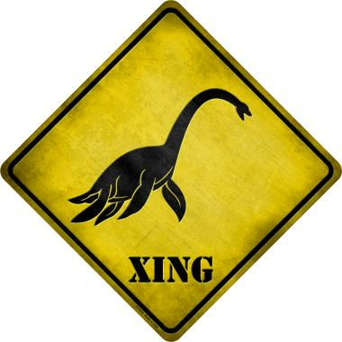 Sea Monster Xing Novelty Metal Crossing Sign CX-039
