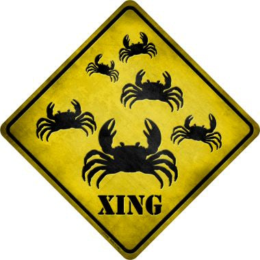 Crab Xing Novelty Metal Crossing Sign CX-042