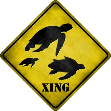 Turtle Xing Novelty Metal Crossing Sign CX-045