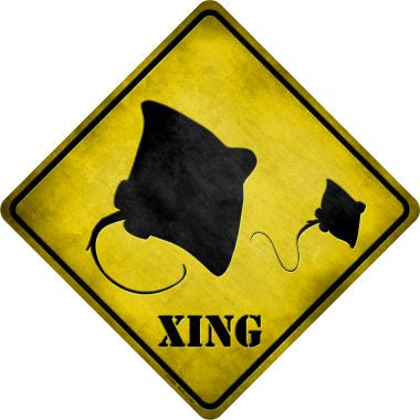 Stingray Xing Novelty Metal Crossing Sign CX-049