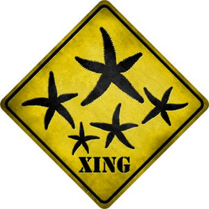 Starfish Xing Novelty Metal Crossing Sign CX-050