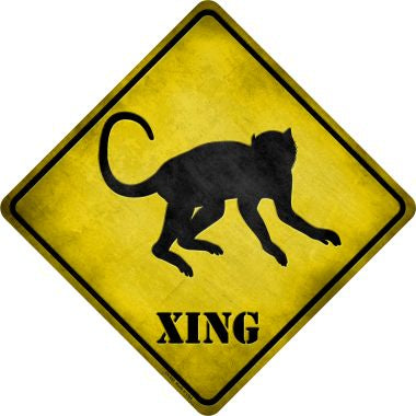 Monkey Xing Novelty Metal Crossing Sign CX-052